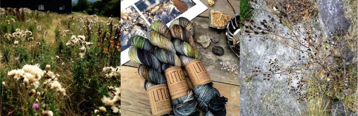 Hand dyed yarn - irish yarn, wool, yarn, olann, knitting, cniotála